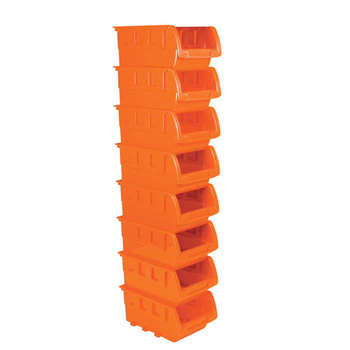 8 Stackable Storage Bins Plastic Small Container Organizer Parts Tray Wall Mount