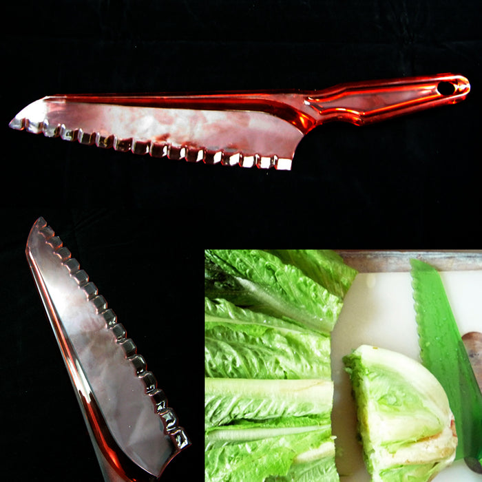 "1 Lettuce Knife Plastic Serrated Fresh Cut Bread Salad Cake Blade Chopper 7"" New"