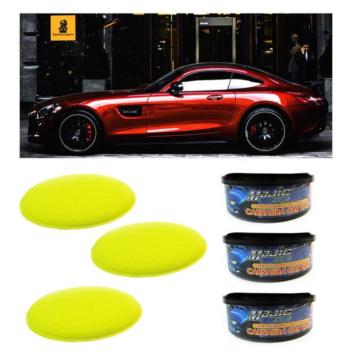 3 Pc Car Wax Scratches Repair Kit Polishing Detailing Paint Scratch Remover Care