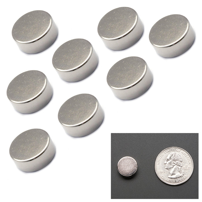 """8X Super Strong Disc Magnets Rare Earth Neodymium Round 1//2/"""" 5 mm 8 lbs Strength"""