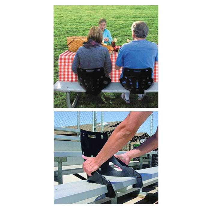 Two Portable StadiumBack Stadium Back Seats Back Chair Bench Bleacher Support