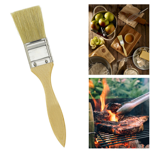 "1"" Pastry Basting Natural Bristle Brush BBQ Marinade Baking Cooking Tool Kitchen"