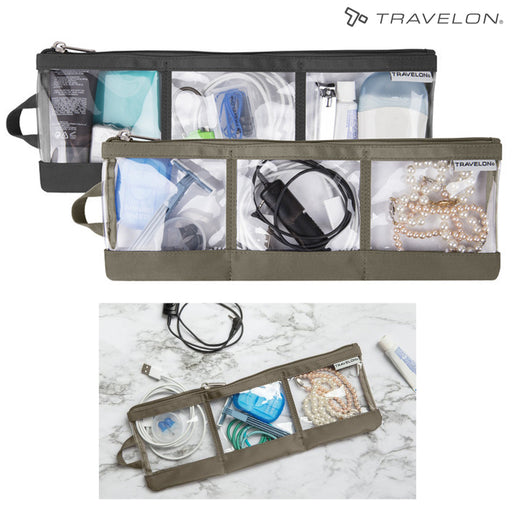 2PC Portable Electronic Accessories Organizer Bag Travel Water Resistant Storage