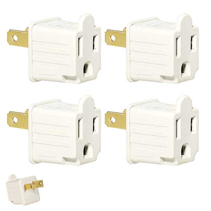 8pc 3 to 2 Prong AC Power Outlet Grounding Adapter Tap Plug UL Listed Grounded