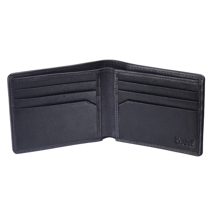 Lewis N Clark RFID Blocking Men Leather Bifold Wallet ID Card Passcase Black New