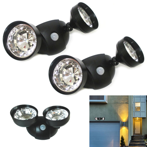2X Adjustable LED Light Motion Activated Sensor Indoor Outdoor Cordless Security