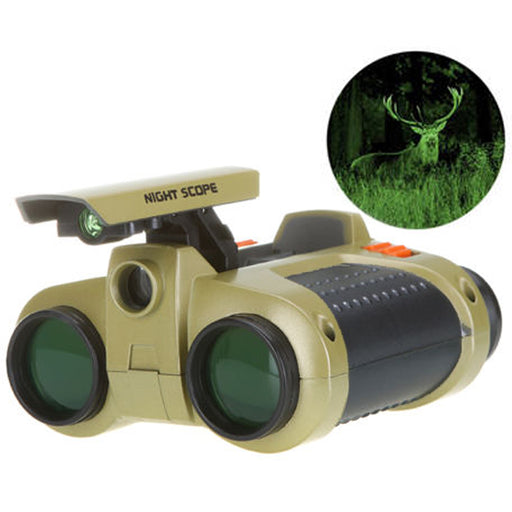 Night Vision Surveillance Scope Binoculars Telescope Pop-Up Light 4 X 30 MM Toy