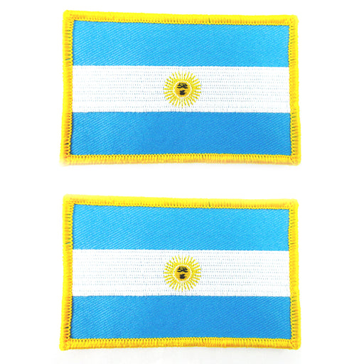 2 Argentina Flag Embroidered Iron On Patch Buenos Aires National Emblem Applique