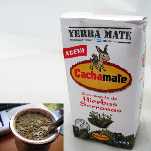 Yerba Mate Cachamate 500 g Argentina Green Tea Loose Bag Blend 1.1 Lb Herbal New