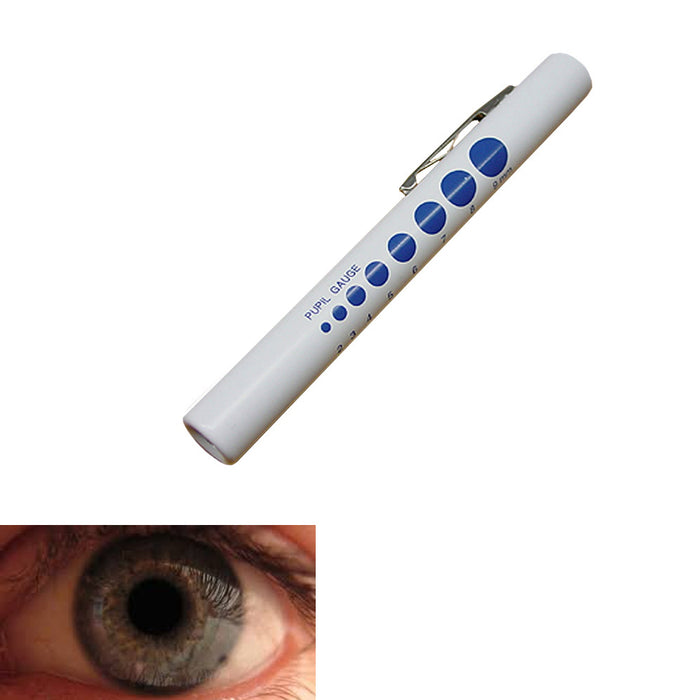 1 Medical Eye Pen Light Pupil Gauge Doctor Nurse First Aid Diagnostic Penlight !