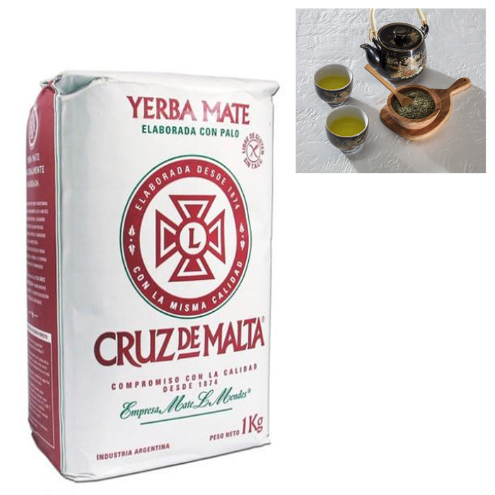 Yerba Mate Cruz De Malta 1 Kg Argentina Tea Leaf Herbal Energy Drink Natural Aid