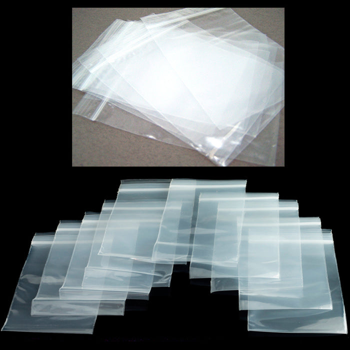 "1000 Baggies 4"" X 4"" Zipper Reclosable Bag Seal Clear Plastic Heavy Duty 2ml Lot"