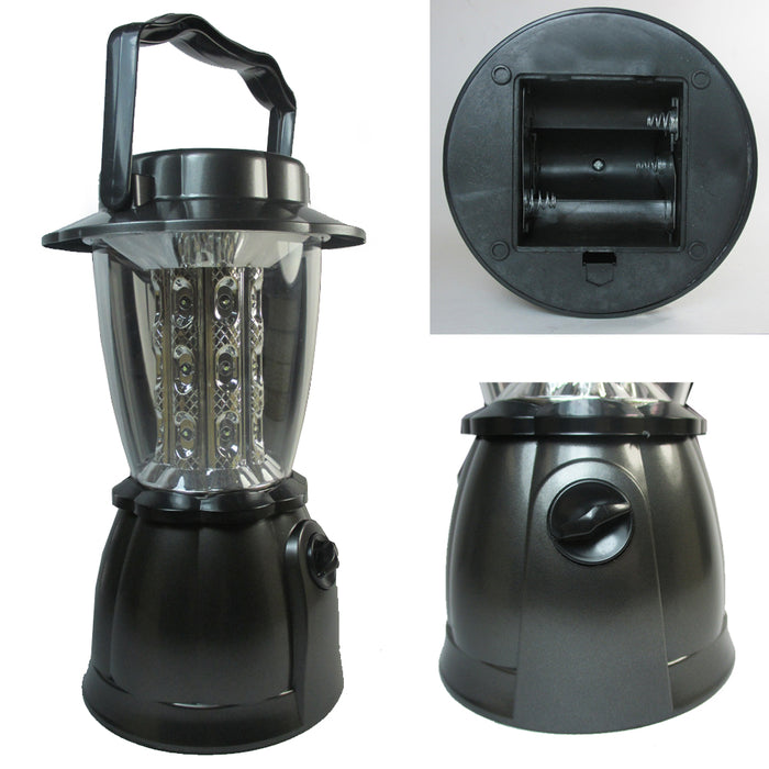 2 Portable Camping Lantern 24 LED Light Cordless Outdoor Compass Lamp Flashlight