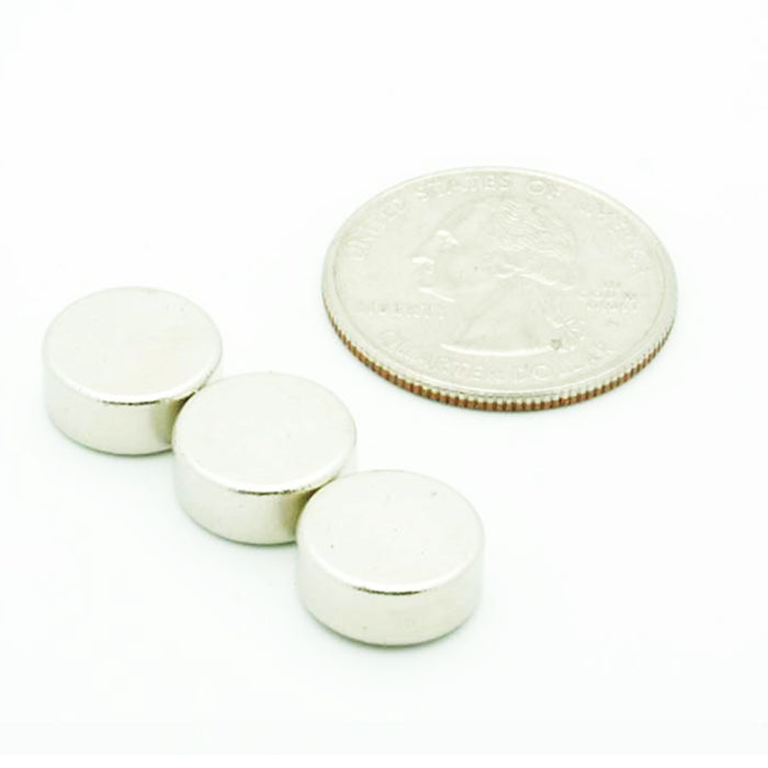 "12 Pc Rare Earth Magnet Super Strong 5 Lb Disc 0.43"" Thick Round Neodymium 5mm !"