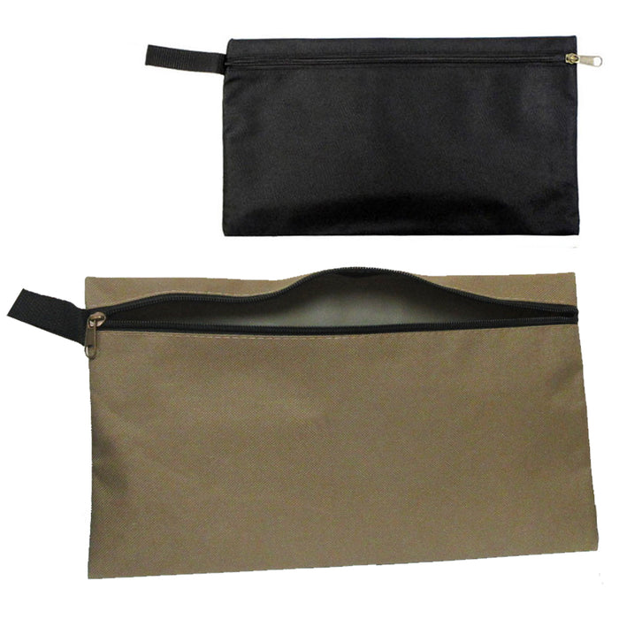 Large Organizer Multipurpose Storage Zipper Pouch Oxford Fabric Bag Clip-On Tote