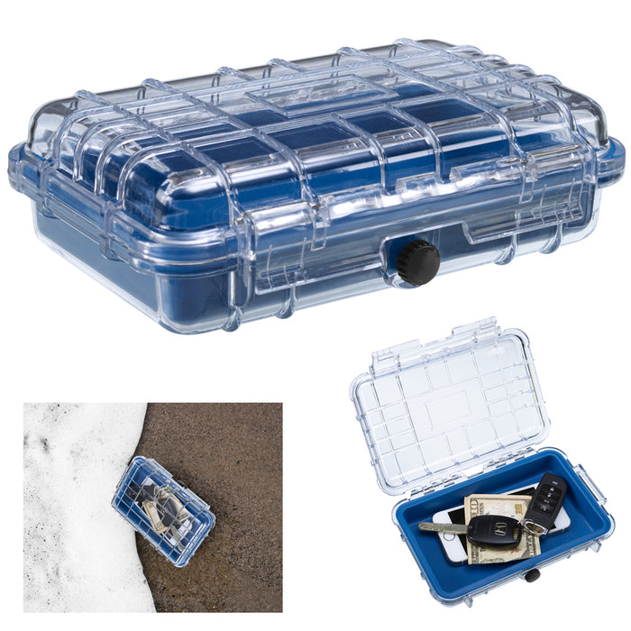 Lewis N Clark Waterproof Carry Box Shockproof Dry Storage Fishing Camp Airtight