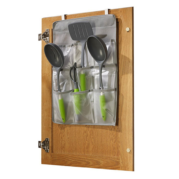 Over The Door Hanging Organizer Clear Vinyl Pockets Pantry Bathroom Save Storage
