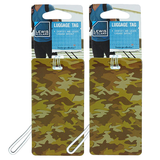 2PC Lewis N Clark Travel Luggage Bag Suitcase Tags Name Address Baggage ID Label