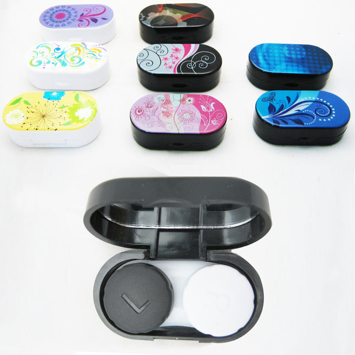 Contact Lenses Case Kit Cute Travel Eye Care Mini Set Mirror Traveling Holder !!