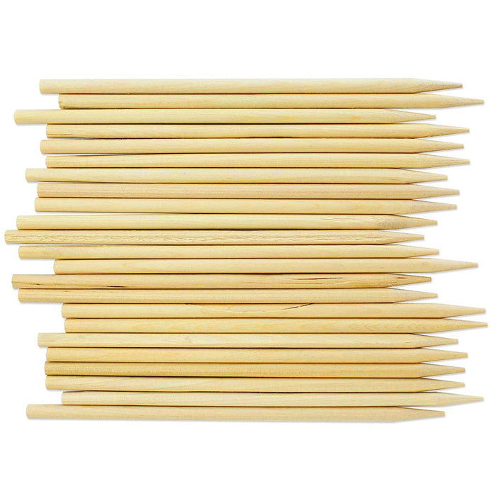 "210PC Sturdy Bamboo Sticks 6"" Wooden Candy Apple Skewer Corn Dog Culinary Crafts"