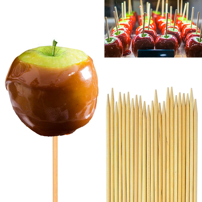 "120 PCS Wooden Candy Apple Skewer Bamboo Sticks 6"" Appetizers Corn Dog Craft Lot"