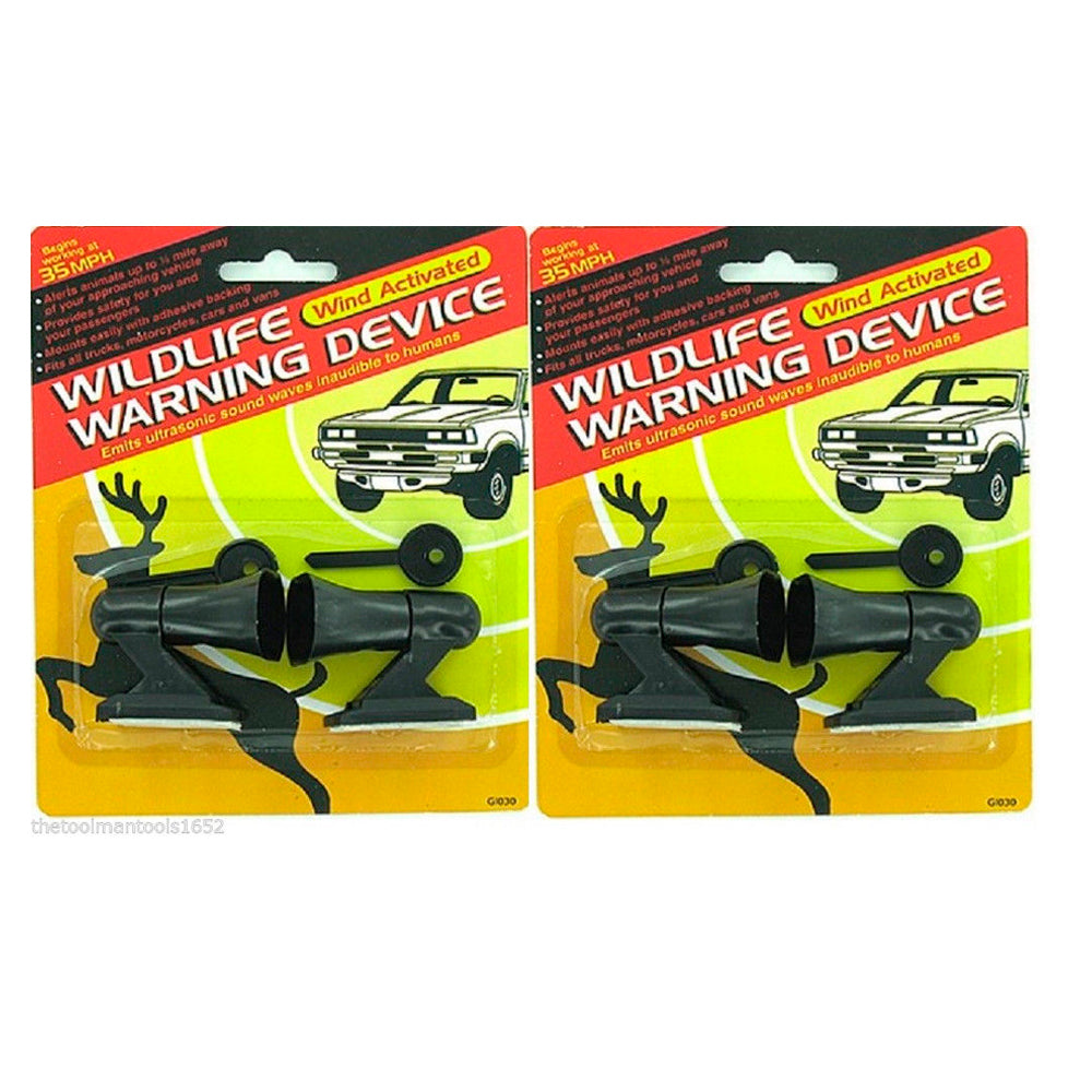 Set of 2 Animal alert deer whistle for cars,van vehical air activated