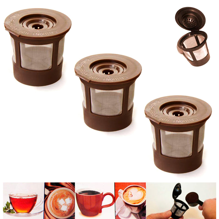 98fb5aa2673 3X Reusable Single K Cups Keurig Coffee Machine Refillable Stainless F —  AllTopBargains