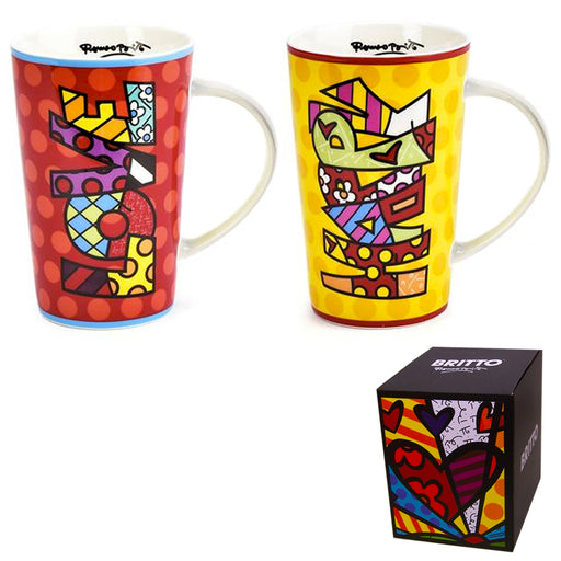 Romero Britto Bone China Mug 13 oz Coffee Tea Home Decor Novelty Design Gift Box