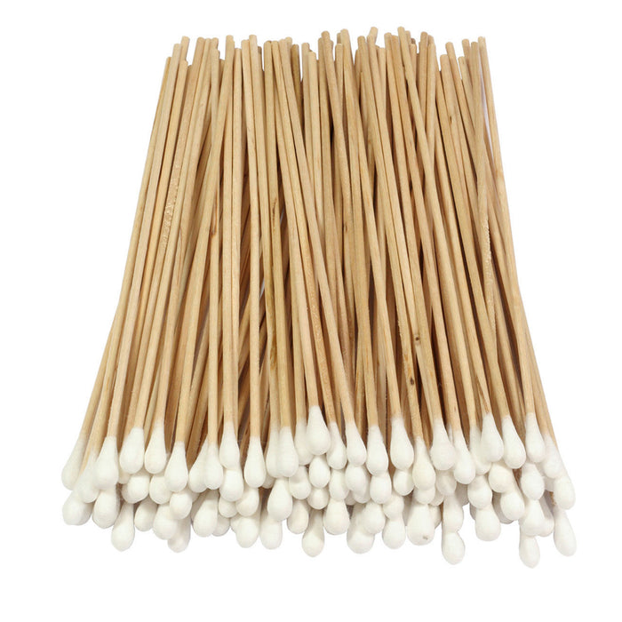 "500 Pc Cotton Swab Applicator Q-tip Swabs 6"" Extra Long Wood Handle Sturdy New !"