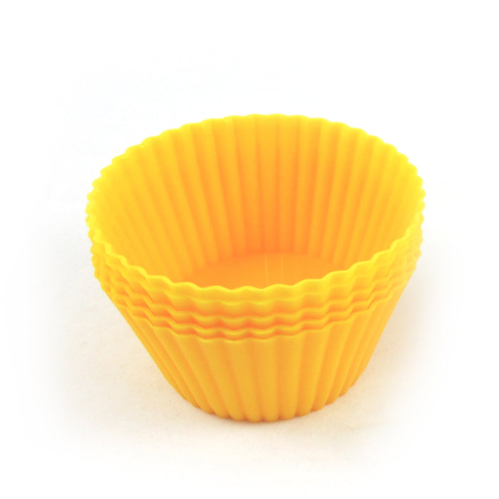 24 Silicone Cupcake Liner Soft Round Mold Cake Muffin Chocolate Baking Cups New