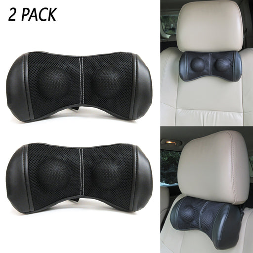 2 PC Neck Rest Pillow Headrest Adjustable Strap Driving Home Office Relieve Pain