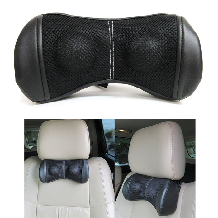 Car Head Seat Pillow Travel Cushion Headrest Relieve Neck Pain Adjustable Straps
