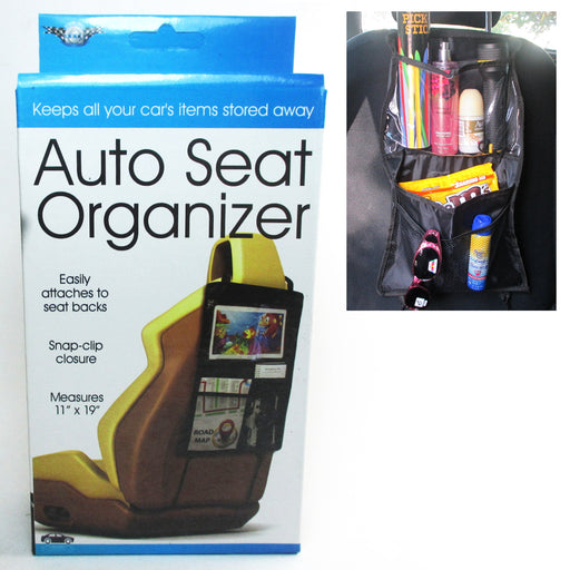 2X Auto Car Seat Back Organizer Holder Multi Pocket Storage Bag Hanger Traveling
