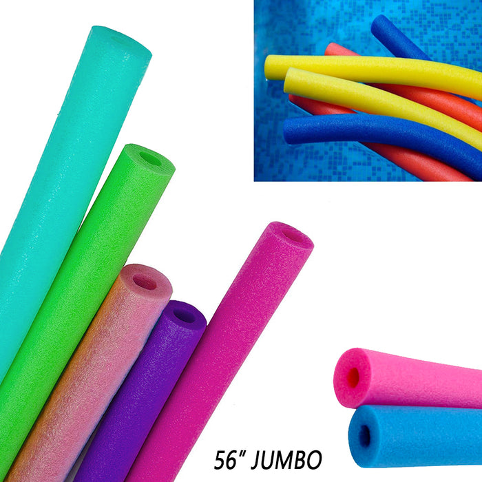 "2 Pack Jumbo Swimming Pool Noodles 56"" x 3.5"" Foam Floatie Therapy Multi-Purpose"