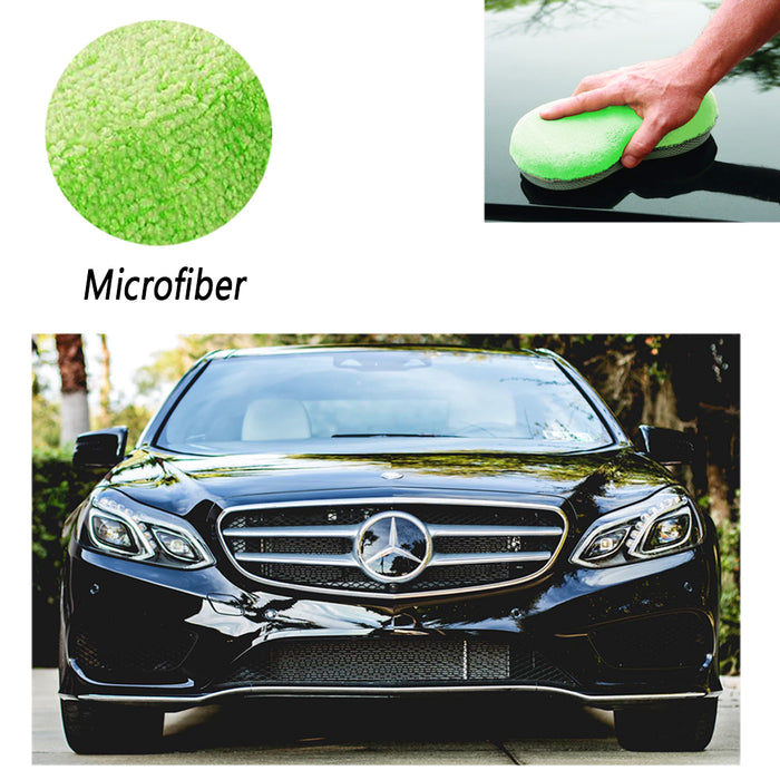 3Pc Detail Microfiber Wash Scrub Sponge Car Care Lint Scratch Free Cleaning Tool