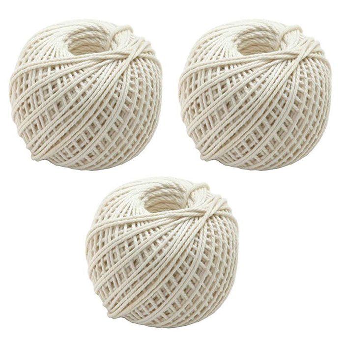 3PC Twine String 197' Cord Rope Crafts DIY Art Gift Wrap Garden Decor 591' Total