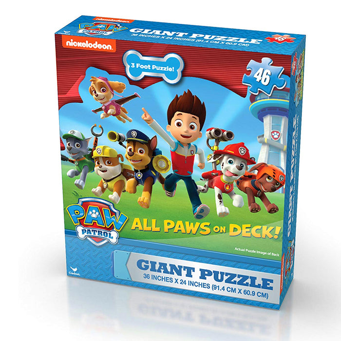 "Nickelodeon Paw Patrol 46-piece Giant Floor Puzzle Kids Games Gift Party 36""X24"""