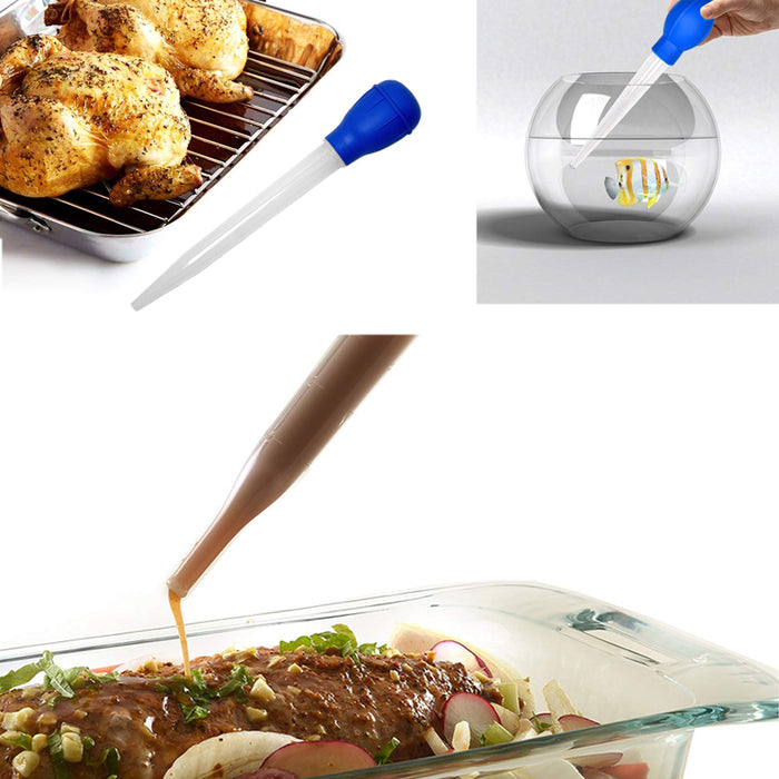 Turkey Baster Nylon Heat Resistant Rubber Bulb Cooking Utensils Barbecue Kitchen