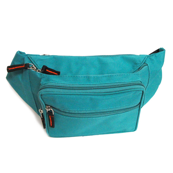 3PC Set Fanny Packs Adjustable Waist Bag Men Women Travel Sports Pouch Turquoise