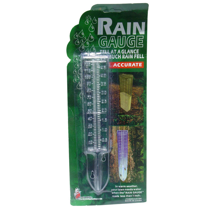 Water Rain Gauge Clear Plastic Weather Garden Accurate Temperature Temp Station