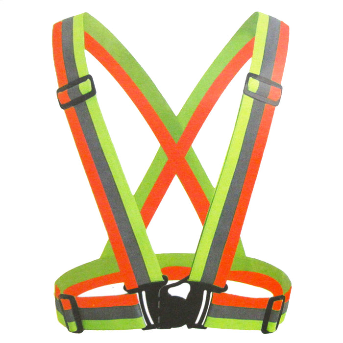 Reflective Night Running Vest Adjustable Strap Lightweight Safety HighVisibility
