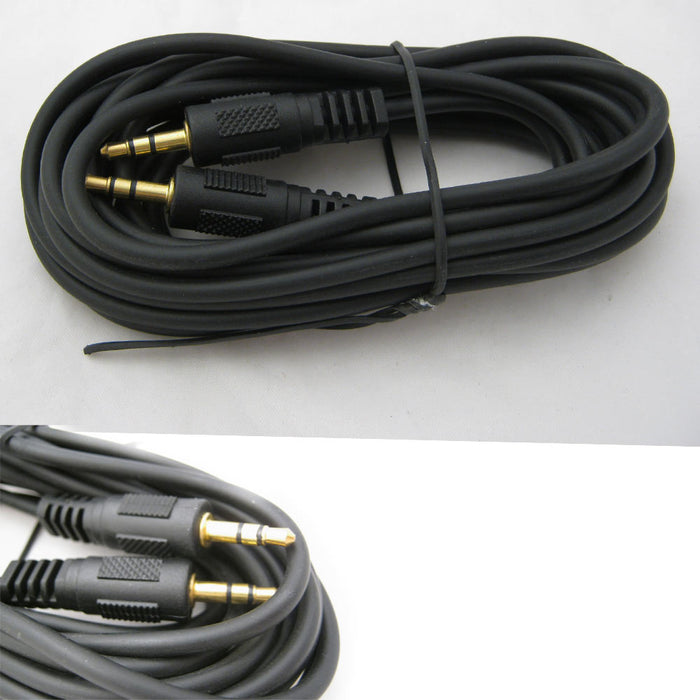 12 FT CAR AUDIO 3.5MM JACK AUX AUXILIARY CABLE IPOD MP3 AUDIO MALE PLUG ADAPTER