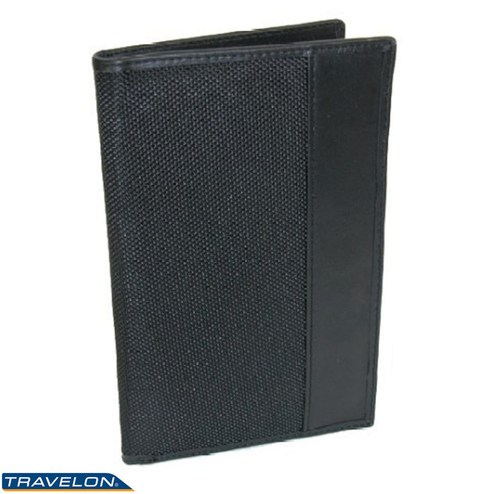 Travelon Passport Holder RFID Blocking Wallet Card ID Case Cover Organizer Black