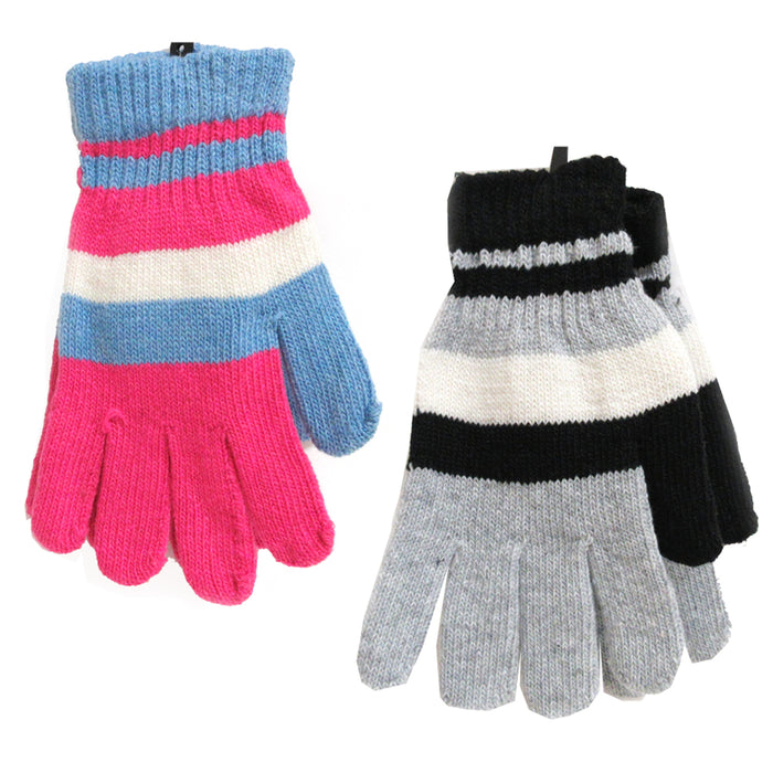 12 Pairs Unisex Gloves Winter Knit Cold Weather Snow Warm One Size Thermal Gift