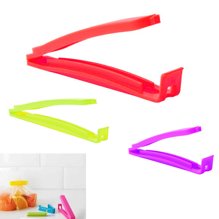 13 Pc Sealing Chip Clips Fresh Food Kitchen Storage Bags Organization Colors Set