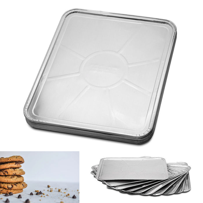 "50PK Disposable Foil Oven Liners Cooking Tray Baking Roasting Grilling 18"" X 15"""