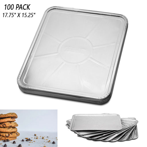 100 Disposable Foil Oven Liners Wholesale Cooking Trays Baking Roasting Grilling