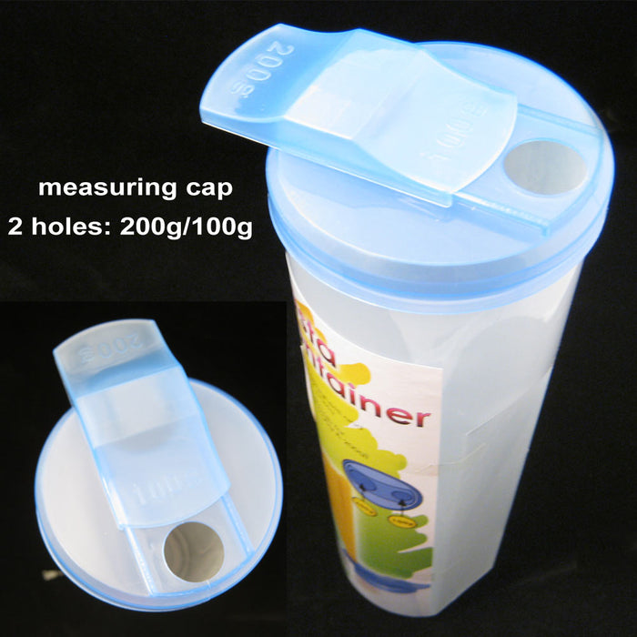 Pasta Container Food Storage Spaghetti Cereal Keeper Plastic Tall Jar Lid New