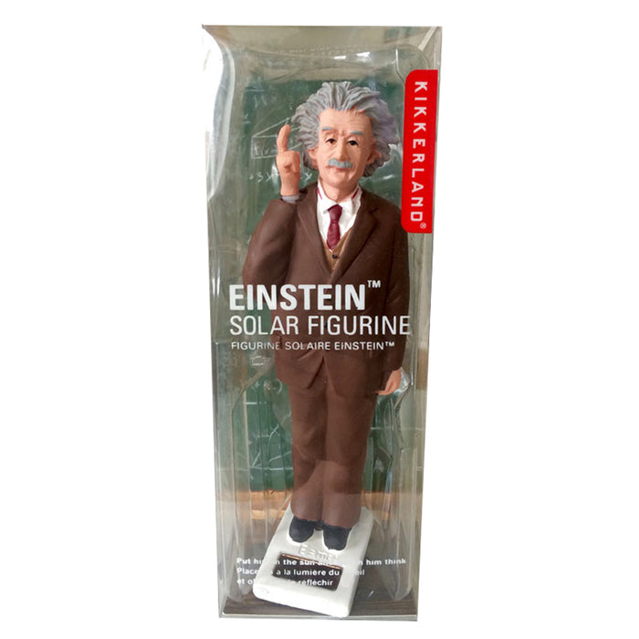 Kikkerland Solar Powered Albert Einstein Waving Figurine Novelty Figure Gift New