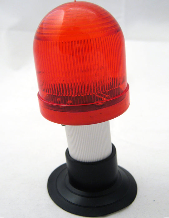 "Emergency Car Signal Flasher LED Light Vehicle Auto Red 2"" Suction Base Gift New"